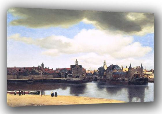 Vermeer, Johannes: View of Delft. Landscape Fine Art Canvas. Sizes: A3/A2/A1 (0042)